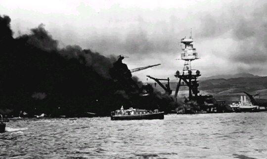 De aanval op Pearl Harbour op 7 december 1941